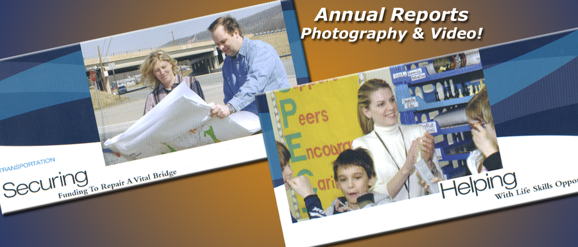 Annual Report print and video projects produced by InteractUSA.com