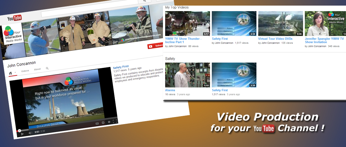 Safety Video, Marketing, TV Commercials and YouTube.com projects produced by InteractUSA.com