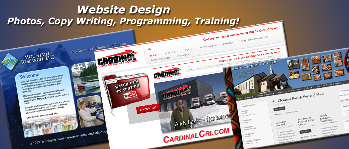 Website design, photography, videography, copy writing, and training projects produced by InteractUSA.com